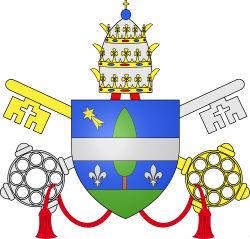 """Pāvesta Leona XIII devīze pravietojumā ir """"Gaisma debesīs"""". Viņa ģerbonī attēlota komēta."""